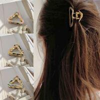 Hair Barrette Barrette Geometry Women Acrylic Fashion Triangle Hair Clip Large