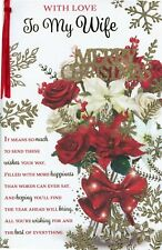 WIFE CHRISTMAS EXTRA LARGE CARD WITH LOVELY VERSES