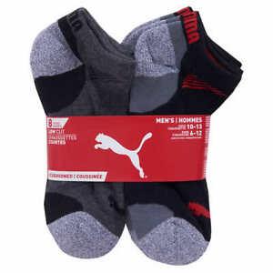 Puma Low Cut Men's Socks 8 Pairs, Size 10-13