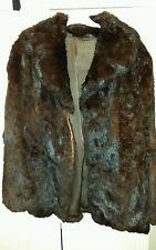 manteau doudoune blouson Lapin 38 40 marron foncé noir Blazer Fourrure Trench