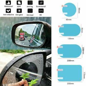 2 Pcs Rainproof Car Wing Mirrors Anti-fog Protective Film Sticker Rain Shield