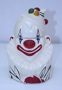 Rare McCoy VTG Halloween IT Clown Scary Horror Cookie Jar 1940's Creepy Circus