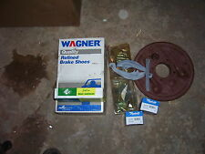 12 BOLT.10 BOLT CHEVY BRAKE KIT.BACKING PLATES,WHEEL CYL AND ALL HARDWARE,SHOES