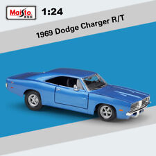 Maisto 1:24 1969 Dodge Charger R/T Blue Model Car Toys &Hobbies Diecast Vehicle
