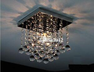 Raindrop LED Aisle Crystal Ceiling Light Fixture Pin Lamp Lighting Chandelier