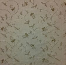"BETTER HOME & GARDEN SHELTON FLAX FLORAL JACQUARD LINEN FABRIC BY THE YARD 51""W"
