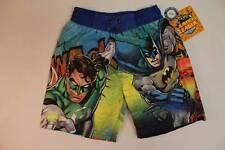 NEW Toddler Boy Bathing Suit Swim Trunks Shorts 3T Batman Superman UV 50 Justice