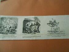 Caricature 1868 - Neptune obligé de suivre le progrès en Vélocipède