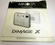 Minolta DiMage X camera guide Instructions user's manual English EN