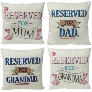 Personalized Reserved Family Grandma Grandad Mum Dad Cushion Pillow Gift Present