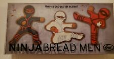 Fred and Friends New in Box Ninjabread Men Cookie Cutters w/ Recipe