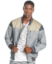 Sean John Oxford Full Zip Bomber Jacket in Gray with Pockets Lined Sz.XL (L)
