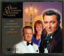 3 CD - GROSSE STIMMEN GOLDENE LIEDER - DAS  SCHÖNSTE AUS DER WELT DER OPERETTE