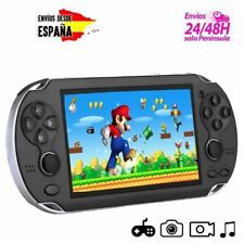 "Consola portatil retro PSP juegos arcade Negra PANTALLA 4,3"" 8GB MEMORIA CAMARA"