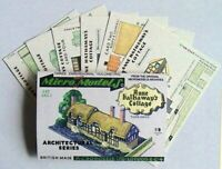 Micromodels ANNE HATHAWAY'S COTTAGE SET ARC I Micro New Models card model kit