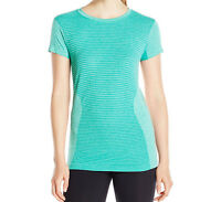 New Balance Women's M4M Seamless Short Sleeve Shirt NB Ice WT61131 Size Large