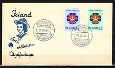 // Iceland, Scott cat. 360-361. Boy & Girl Scouts issue on a First day cover.