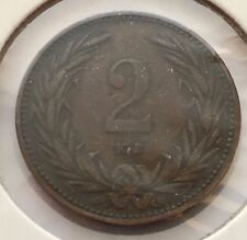 1893 Kb-2 Filler Hungary Bronze Old World Coin