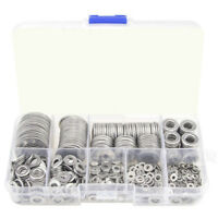 580pcs 304 Stainless Steel Flat Washers Kit M2 M2.5 M3 M4 M5 M6 M8 M10 M12 CS