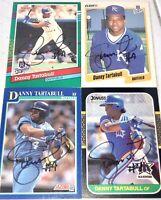 Danny Tartabull former KANSAS CITY ROYALS MLB 4 baseball card auto autograph LOT