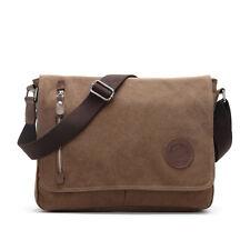 Mens Canvas Messenger bag Shoulder Sling Travel Pack Satchel Bags Casual laptop