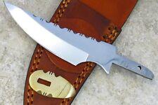 Lot de 2 Lames de Couteau à Customiser Clip Blade Dos Guilloché + Etui BLSOB5
