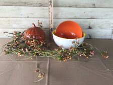 Fall Pumpkin Fragrance Warmer, Pr Garland & Mixing Bowls Home Interiors & Gifts