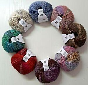 RICo Creative Melange Glitz Chunky, Wolle mit Glitzerfaden,  (GP 100g 9,78€)
