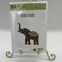 Stampin Up  Stamp Set   Lucky Elephant   Rubber Unmounted