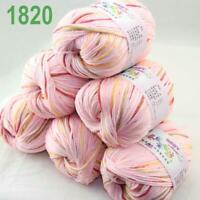Sale 6x50gr Balls Soft Cashmere Silk wool Hand Knitting DK Baby Crochet Yarn 20