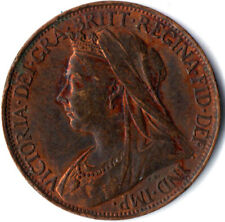 1895 ONE FARTHING OF QUEEN VICTORIA / VERY NICE COLLECTIBLE COIN / VF #WT2307