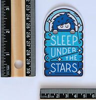 Sleep under the stars Outdoor Lover Camping travel luggage Decal sticker #2713
