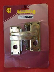 Keypsafe KP405 Victorian Privacy Furniture Polished Brass Bathroom Door Handles
