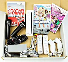 Wii Nintendo Console 2 PLAYER GIRLS Bundle PLUS 2 Mics for Karaoke / Dancing
