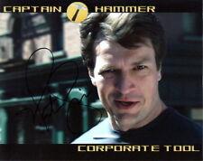 NATHAN FILLION.. Dr. Horrible's Sing-Along's Capt. Hammer - SIGNED