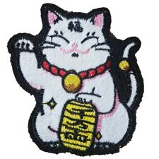Chinese Lucky Cat Iron On Patch Sew On Transfer Maneki-neko Japanese Lucky Cat
