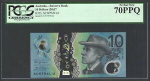 Australia 10 Dollars 2017 P63 Uncirculated Graded 70