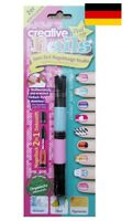 Creative Nails Peel off Nail Art Pen Nagellack und Dekospitze pastell rosa/blau