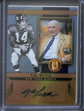 2017 Panini Gold Standard Gold Jacket Autograph #GJ-YA Y.A.Tittle No 26 of 49