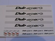 1/18 scale Modified Tuning DUB SPORT decal sunstrips