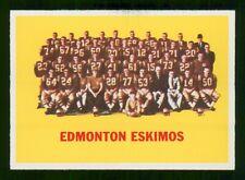 EDMONTON ESKIMOS TEAM CARD 1964 TOPPS CFL 64 NO 29 EX+  31290