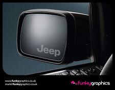 Jeep logo mirror decals stickers graphics decals x3 en argent etch vinyle