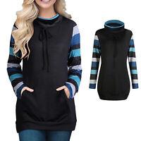 Women's Long Sleeve Patchwork Casual T-Shirt Sweatshirt Tops Blouse Pullover