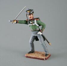 Painted Tin Toy Soldier Army Artillery Officer 54mm 1/32