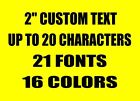 """2"""" CUSTOM VINYL LETTERING TEXT Personalized Car Window Laptop Wall Sticker Decal"""
