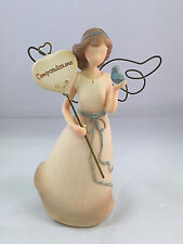 Heart warmers angels figure special moments congratulations beige resin