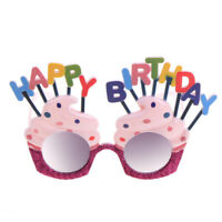 Funny Happy Birthday Ice-cream Party Costume Novelty Glasses Dress Sunglasses DS