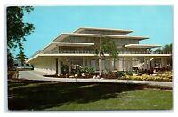 Postcard Beautiful Tropical Plantings Municipal Auditorium Bradenton FL C54