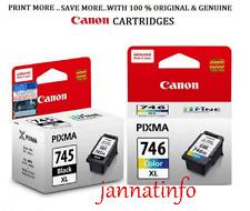 Canon PG-745XL(Black) & CL-746XL(Colour) inkjet Cartridges (Set of 2 No)