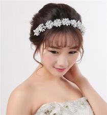 Handmade Wedding Bridal Headpiece Hairband Crystal Pearl Bride Hair Accessories